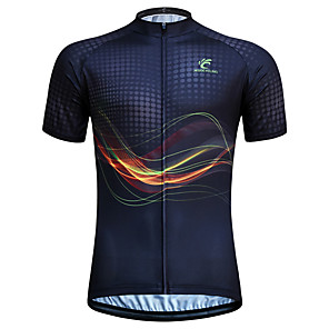 cheap Cycling Jerseys-JESOCYCLING Men's Women's Short Sleeve Cycling Jersey Black Stripes Plus Size Bike Jersey Top Mountain Bike MTB Road Bike Cycling Breathable Quick Dry Ultraviolet Resistant Sports Clothing Apparel