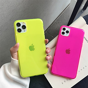 cheap iPhone Cases-Case For Apple iPhone 11 11Pro 11 Pro Max Four-color fluorescent solid color TPU material scratch-resistant mobile phone case