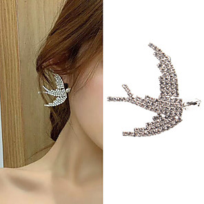 cheap Earrings-Women's Stud Earrings Classic Bird Love Classic Vintage Imitation Diamond Earrings Jewelry Silver For Gift Daily 1 Pair