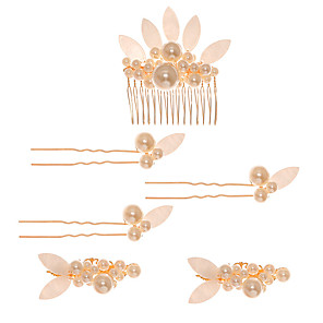cheap Necklaces-Fashion Imitation Pearl Headpiece with Faux Pearl 1 Piece Wedding / Special Occasion Headpiece
