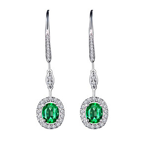 cheap Earrings-Women's Drop Earrings Geometrical Fashion Stylish Gold Plated Imitation Diamond Earrings Jewelry Red / Green / Blue For 1 Pair