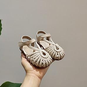 cheap Women's Boots-Girls' Comfort PVC Sandals Toddler(9m-4ys) Black / Brown / Beige Spring
