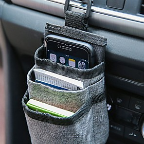 cheap Phone Mounts & Holders-Car Air Vent Pocket Organizer Storage Container Bags Phone Holder Car Stowing Tidying Auto Interior Accessories