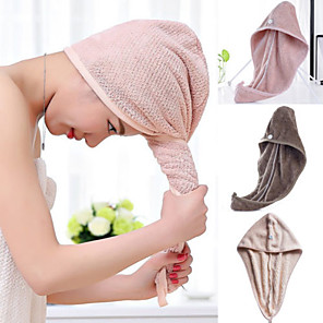 cheap Bathroom Gadgets-Magic Microfiber Hair Fast Drying Dryer Towel Bath Wrap Hat Quick Cap Turban Dry