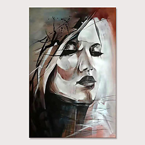 cheap Animal Paintings-Mintura Large Size Hand Painted Abstract Girl Oil Paintings on Canvas Pop Art Wall Pictures For Home Decoration No Framed