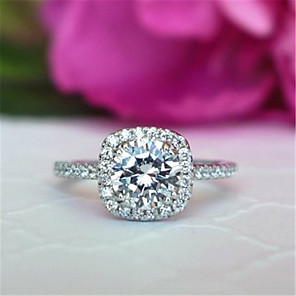 cheap Rings-Women's Ring AAA Cubic Zirconia 1pc Silver Platinum Plated Alloy Stylish Daily Jewelry Cute