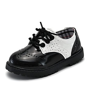 cheap Kids' Oxfords-Girls' Comfort Patent Leather Oxfords Little Kids(4-7ys) White / Black Spring