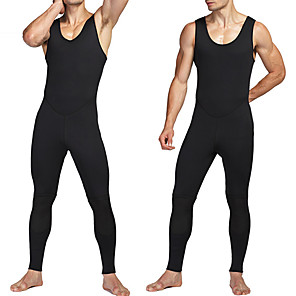 cheap Wetsuits, Diving Suits & Rash Guard Shirts-MYLEDI Men's Full Wetsuit 3mm SCR Neoprene Diving Suit Windproof Anatomic Design Sleeveless Solid Colored Autumn / Fall Spring Summer / Winter / Stretchy
