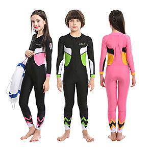 cheap Athletic Swimwear-ZCCO Boys' Girls' Diving Rash Guard One Piece Swimsuit Swimwear Diving Suit Bodysuit Full Body Front Zip - Swimming Diving Surfing Patchwork Autumn / Fall Spring Summer / Winter / Kid's
