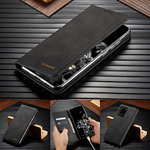 cheap Samsung Case-Luxury Leather Flip Wallet Case For Samsung Galaxy S20 Ultra S10 Plus S9 Plus S8 Plus S10e Magnetic Card Stand Cover
