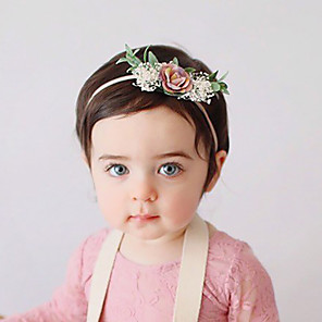 cheap Accessories-Fabric Headbands Durag Kids Flower Bowknot For New Baby Holiday Stylish Active Fuchsia and Pink Blushing Pink Dark Pink 1 Piece