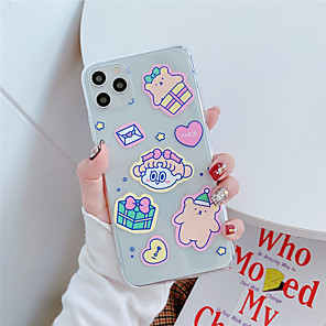 cheap Outdoor IP Network Cameras-Case For Apple scene map Apple iPhone 11 11 Pro 11 Pro Max Cute girl and bear pattern High penetration TPU Material Painted Craft scratch proof phone case