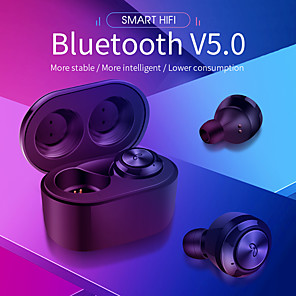 cheap TWS True Wireless Headphones-A6 TWS Bluetooth5.0 Wireless Earbuds HIFI Voice Sport Ear Stereo Cordless Sweatproof Earphones with 300 mAh Charging box