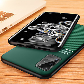 cheap Samsung Case-Case For Samsung Galaxy S20 Plus / S20 Ultra / S20 Embossed Back Cover Solid Colored PU Leather / TPU
