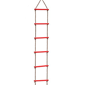 cheap Bathroom Gadgets-Kids Climbing Rope Ladder, Outdoor Plastic Six-Section Children Kids Rope Climbing Ladder Toy Exercise Equipment