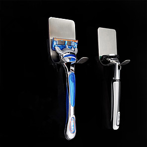 cheap Bathroom Gadgets-Stouge 1pc 304 Stainless Steel Razor Holder Men Shaving Shaver Shelf Shaving Razor Rack Bathroom Home Viscose Wall Hooks Hanger