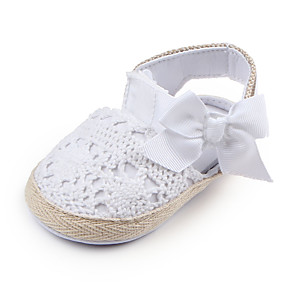 cheap Kids' Flats-Girls' Comfort / First Walkers / Children's Day Lace Flats Infants(0-9m) / Toddler(9m-4ys) Bowknot White / Pink Spring / Fall
