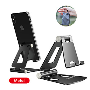 cheap Phone Mounts & Holders-iPhone Holder Stand for iPhone 11 Xiaomi Huawei Samsung Metal Phone Holder Foldable Mobile Phone Stand Desk For iPhone 7 8 X XS