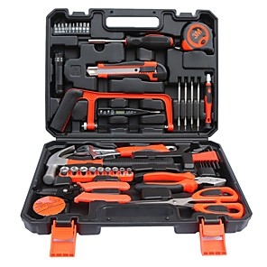 cheap Cell Phones-Hardware Tool Combination Set Household Toolbox Manual Tool Set Repair General Household Hand Tool Kit with Plastic Toolbox Storage Case 24PCS Set