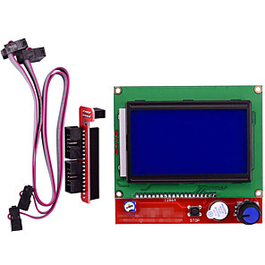 cheap Displays-3D printer smart controller RAMPS1.4 LCD 12864 LCD Control Panel