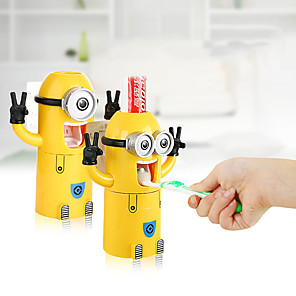 cheap Bathroom Gadgets-Cartoon toothbrush holder lazy automatic toothpaste squeezer cartoon toothbrush cup creative child adult wash set
