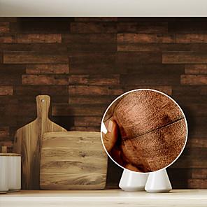 cheap Wall Stickers-Wood Grain Pattern Tile Floor Sticker PVC Bathroom Kitchen Waterproof Wall Sticker Home Decor TV Sofa Wall Art Mural