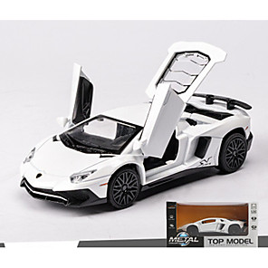 cheap Toy Cars-MZ 1:32 Toy Car Model Car Race Car Music & Light Pull Back Vehicles Alloy Mini Car Vehicles Toys for Party Favor or Kids Birthday Gift 1 pcs / Kid's