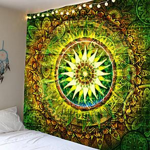 preiswerte Ölgemälde-große 200x150cm Mandala indischen Wandteppich Wandbehang böhmische Strandmatte Polyester Decke Yoga Matte Home Schlafzimmer Kunst Wandteppich
