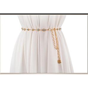 cheap Party Sashes-Metalic Wedding / Party / Evening Sash With Belt Women's Sashes