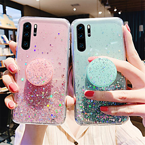 cheap iPhone Cases-Case For Samsung Galaxy S20 Plus / S20 Ultra / S20 Glitter Shine Back Cover sky TPU