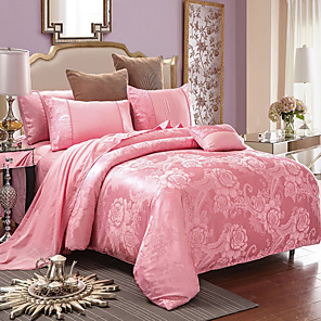 cheap High Quality Duvet Covers-Luxury Jacquard Bedding Set King Size Duvet Cover Bed Linen Queen Comforter Bed Gold Quilt Cover High Quality For Adults