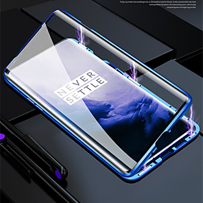 cheap Warning Lights-Magnetic Double Sided Case For One Plus 8 Pro / One Plus 7T Pro / One Plus 6T ProShockproof / Water Resistant / Transparent Tempered Glass / Metal Case