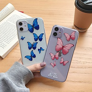 cheap iPhone Cases-Case For Apple iPhone 11 / iPhone 11 Pro / iPhone 11 Pro Max Shockproof Back Cover Butterfly TPU