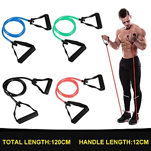 cheap Abstract Paintings-120cm Yoga Pull Rope Resistance Bands Fitness Gum Elastic Bands Fitness Equipment Rubber expander Workout Exercise Training Band