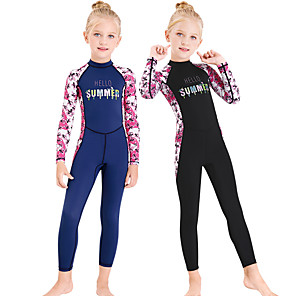 cheap Wetsuits, Diving Suits & Rash Guard Shirts-Dive&Sail Boys' Girls' Rash Guard Dive Skin Suit Elastane Diving Suit Bodysuit UV Sun Protection Breathable Long Sleeve Back Zip - Swimming Diving Water Sports 3D Print Autumn / Fall Spring Summer