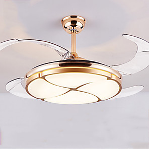 cheap Ceiling Lights-107 cm Geometric Shapes Ceiling Fan Metal Acrylic Painted Finishes Modern 110-120V / 220-240V