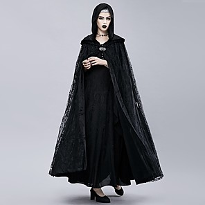 cheap Historical & Vintage Costumes-Plague Doctor Retro Vintage Gothic Steampunk Cloak Masquerade Women's Costume Black Vintage Cosplay Event / Party