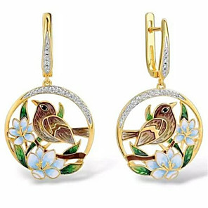 cheap Earrings-Women's Drop Earrings Geometrical Fashion Stylish Gold Plated Imitation Diamond Earrings Jewelry Gold For Anniversary Festival 1 Pair