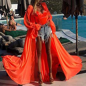 cheap Maxi Dresses-Women's Flare Sleeve Maxi  Boho Dress