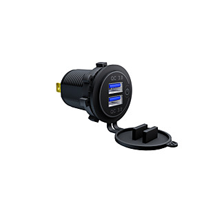 cheap Car Charger-Motorcycle / Car Car Charger 2 USB Ports for 12 V