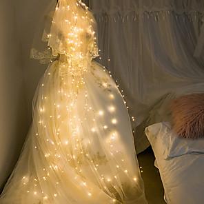 cheap LED String Lights-Easter lights 2m String Lights 280 LEDs  LED Bud Copper Wire String Tree Tree Rattan Lamp Star Ins Decorative Solar Branch Lamp Wedding Garden Garden Lantern