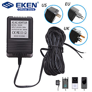cheap Video Door Phone Systems-US UK EU Plug 18V AC Transformer Charger for Wifi Wireless Doorbell Camera Power Adapter IP Video Intercom Ring 110V-240V