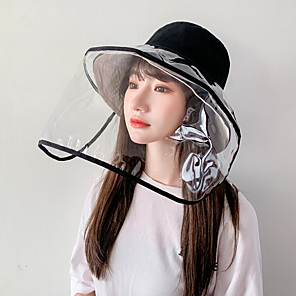 cheap Mobile Signal Boosters-Women's Basic Polyester Full-face Protective Hat /Summer Outdoor Gardening / Foldable / Beach / Sunscreen Sun Hat Big Brim Cap