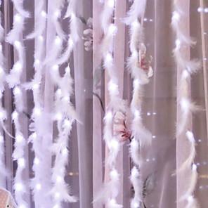 cheap LED String Lights-3*3 m String Lights 300 LEDs Warm White USB / Decorative / Curtain String Lights USB Powered