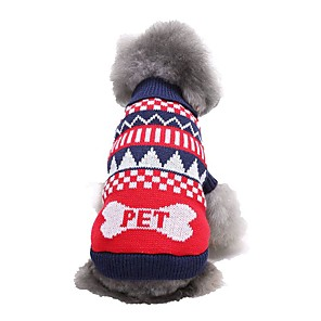 cheap Dog Clothes-Dog Sweater Winter Dog Clothes Green Blue Costume Woolen Cartoon XS S M L XL