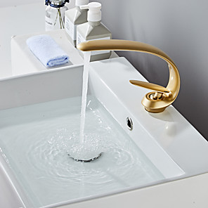 cheap Bathroom Sink Faucets-Bathroom Sink Faucet - Standard Painted Finishes Centerset Single Handle One HoleBath Taps
