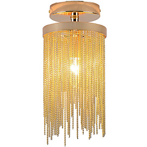 cheap Ceiling Lights-1 Light Dia 6inch Aluminum Flush Mount Lights Candle Style for Entry Bedroom Living Room Mini Lamp