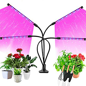 cheap Plant Growing Lights-LED Plant Growing Lights Growth Lamp 5 W 10 W 15 W 200 lm USB with 9 Dimming Levels Timing Full Spectrum Multi-Heads 360 Rotatable Clip Waterproof IP54