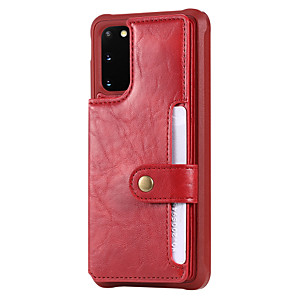 cheap Samsung Case-Case For Samsung Galaxy S20 Plus / S20 Ultra / S20 Shockproof / Flip Back Cover Solid Colored PU Leather