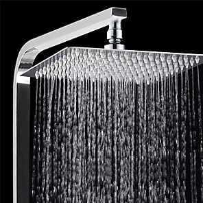 cheap Rain Shower-1 Pcs Bath Shower Rainfall Sprayer 304 Stainless Steel Square & Round Shower Head High Pressure Bathroom Top Spray Head for Bath